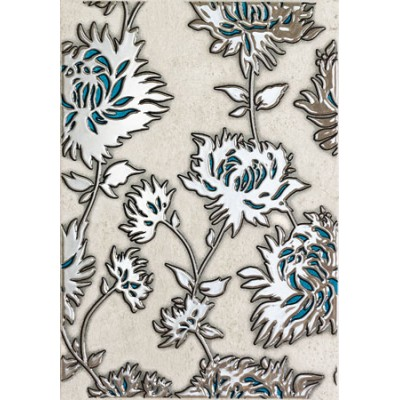 Gris flower turquoise Декор